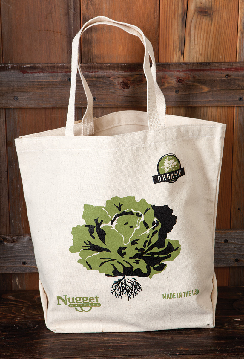Nugget Markets reusable canvas grocery bags - Nugget Markets Image