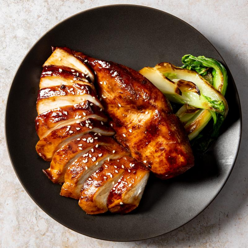 soy-glazed chicken breast