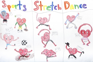 Theme: What activities keep your heart healthy and strong? Winner: Maya Nambisan, Grade 4, Jackson Elementary School, El Dorado Hills, CA