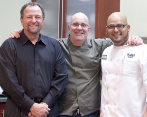 Director of Kitchen Operations Randy Wehman, Executive Chef Michael Cross, Chef de Cuisine Matthew Ybarra
