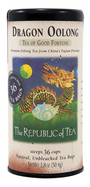Oolong Originating in Taiwan and southeast China, Oolong's fragrance is somewhere between apples, orchids, and peaches. With a caffeine content midway between black and green tea, Oolong has a distinct, alluring flavor. Try Dragon Oolong Tea of Good