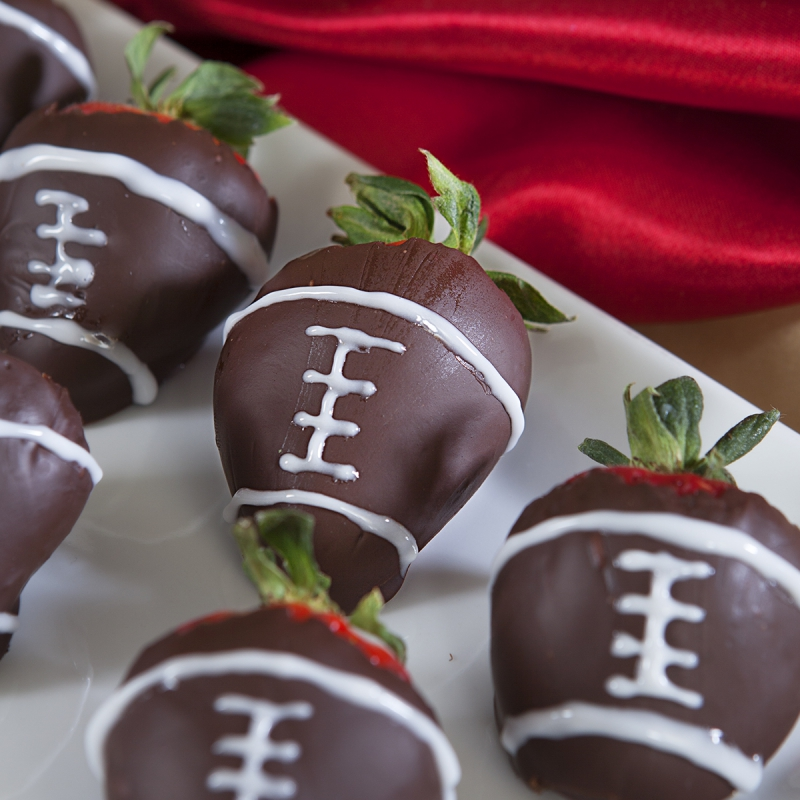 Chocolate Football Strawberries