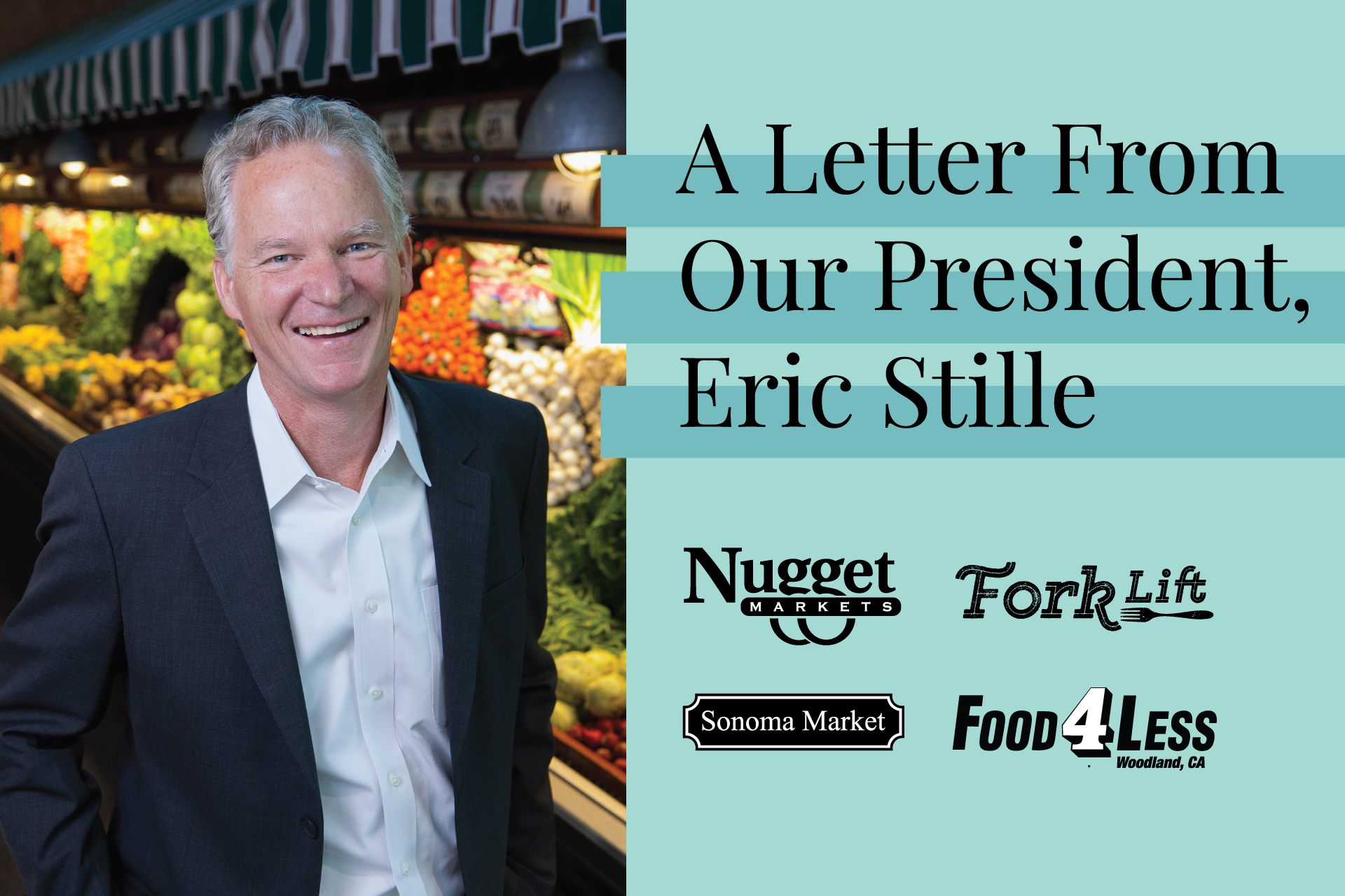 a letter from our president text with picture of Eric Stille and logos