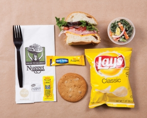 Classic Lunch Box (half a BYO sandwich, cookie, bag of chips and 3 oz. salad)