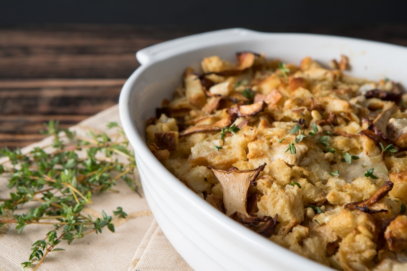 chanterelle mushroom and brie stuffing