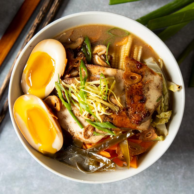bowl of ramen with miso broth