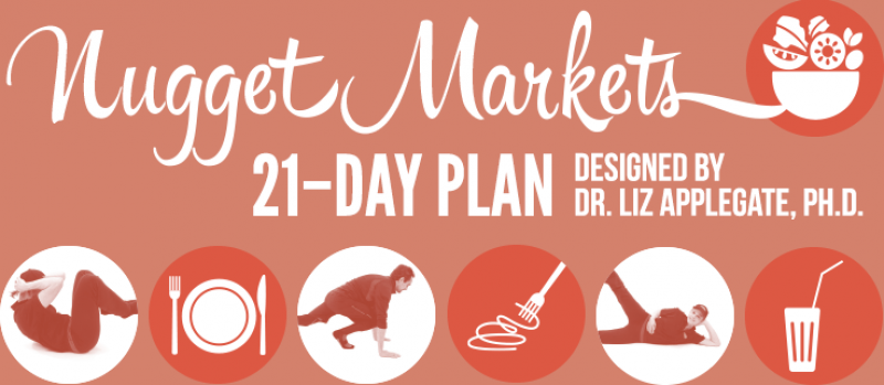Nugget Markets 21–day plan designed by Dr. Liz Applegate, PH.D.