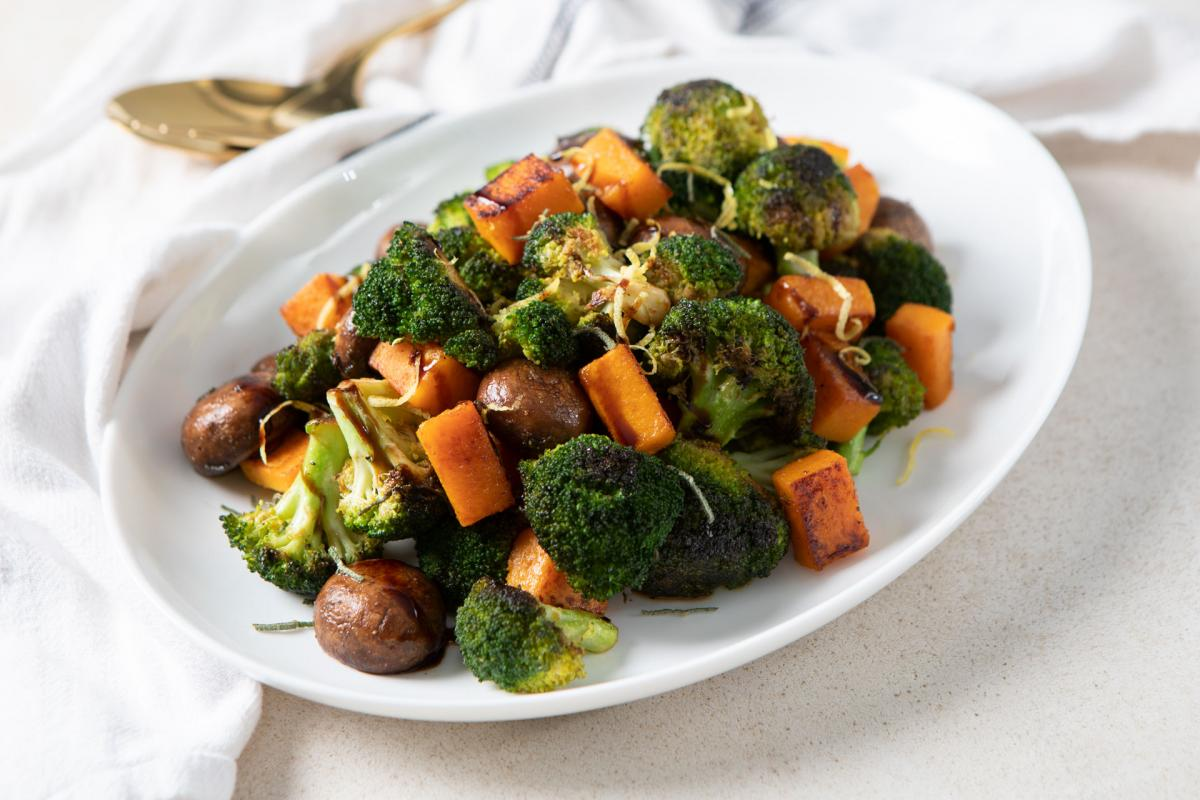Roasted Broccoli with Butternut Squash