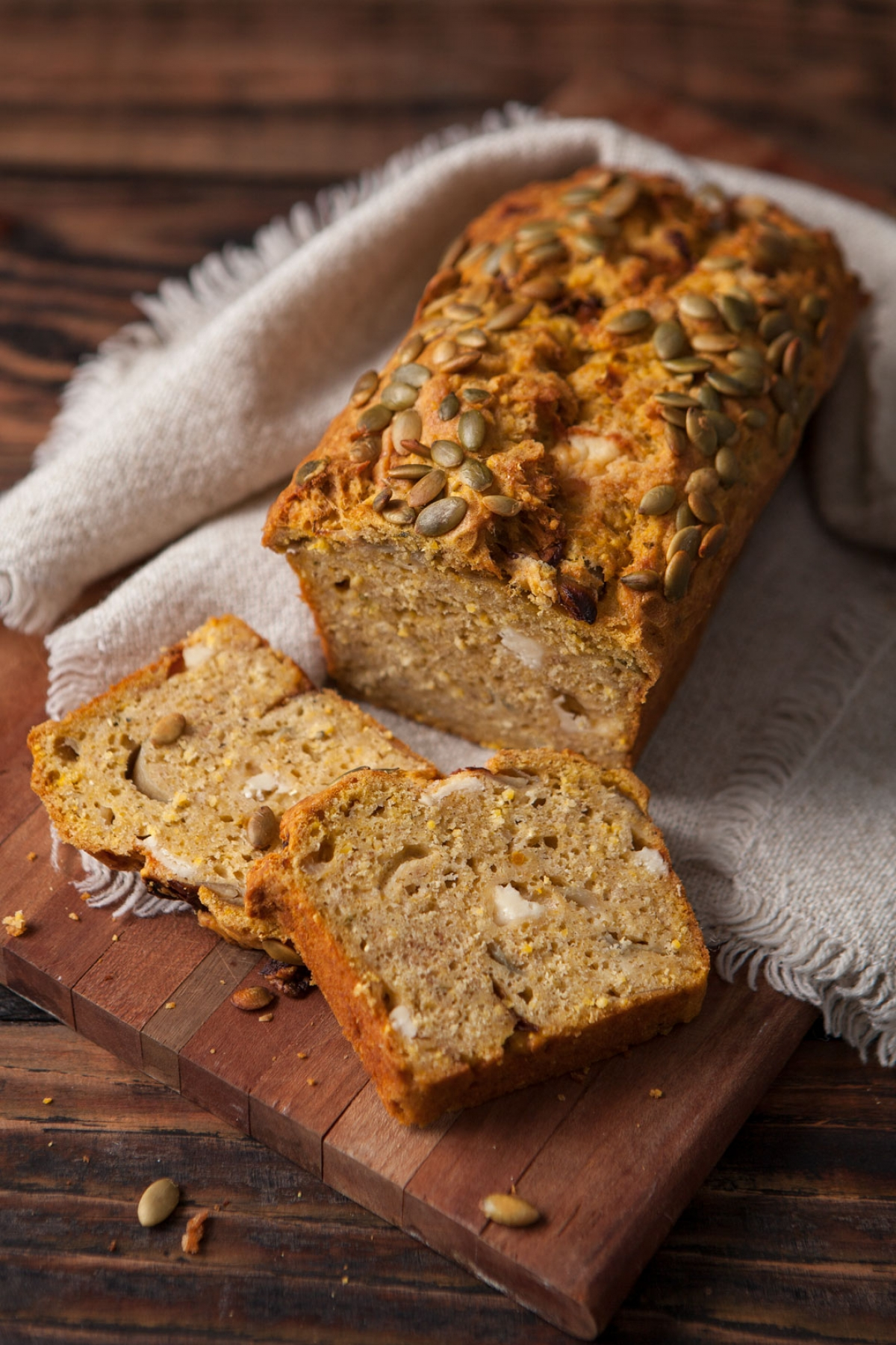 Pumpkin Shallot Bread Loaf
