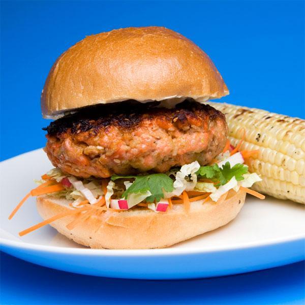 Nugget Markets Sesame Soy Salmon Burger Recipe